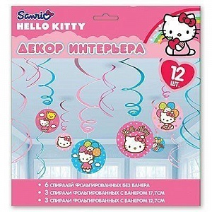 Спирали Hello Kitty 46-60 12 шт (1501-1624)